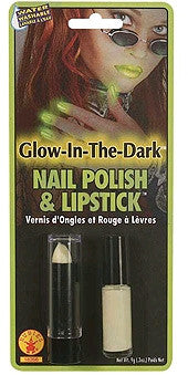 Glow in the Dark Nail Polish and Lipstick