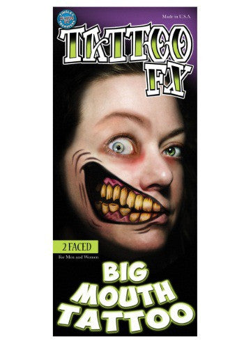 2 FACED TEMPORARY BIG MOUTH TATTOO