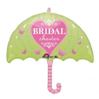 Pink Butterfly Bridal Shower Umbrella