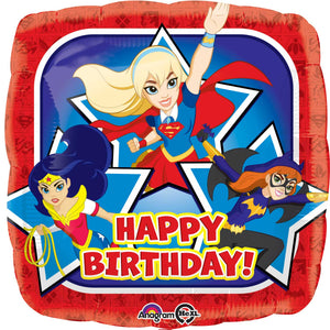 33224-DC Girls Happy Birthday Balloon