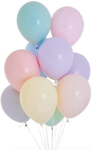 10 Pcs Pastel Latex Balloons 12 Inch Assorted