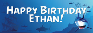 Shark Birthday Banner