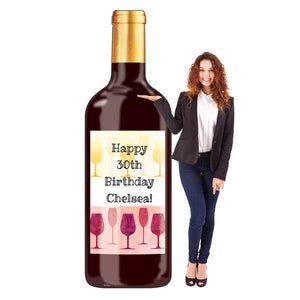7 FT. WINE TIME PERSONALIZED WINE BOTTLE STANDEE