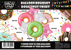Big Donut Foil Balloons (Pack of 7)