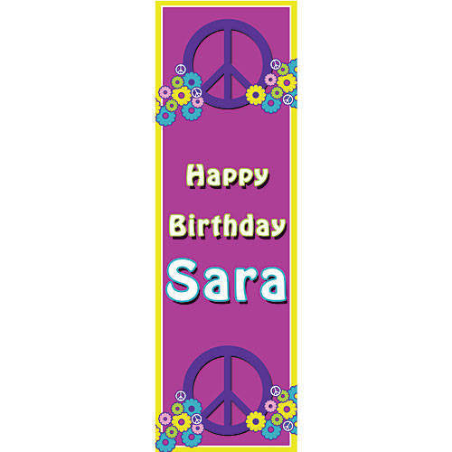 Peace, Love, Daisy Vertical Banner