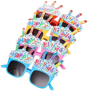 10 Happy Birthday Candle Sunglasses (5 Blue & 5 Pink)