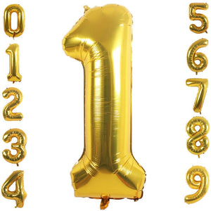 Big 40 Inch Number Balloons (Gold)