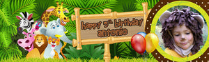 Jungle Birthday Banner