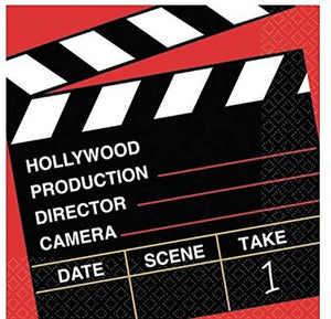 Amscan Movie Night Hollywood Party Director's Cut Clapper Luncheon Napkins (36 Piece), Multi Color, 6.6 x 6.6""