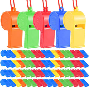 50 Pcs Plastic Whistles