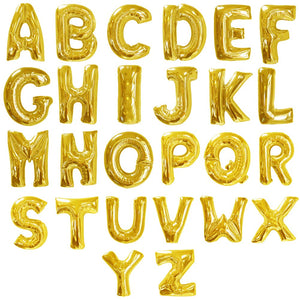 Gold Letter Balloons (16 Inch)