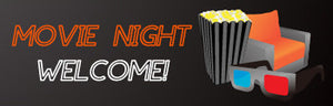 Welcome Movie Night Banner