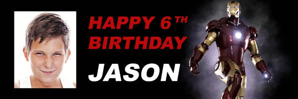Iron Man Birthday Banner