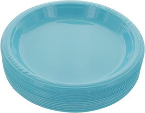 "Blue Disposable Plastic Party Plates 8.5"" (10 pcs)"