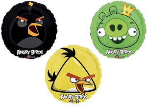 Angry Birds 3 Pack Birthday Bundle of Angry Bird Balloon 18""