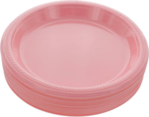 "Pink Disposable Plastic Party Plates 8.5"" (10 pcs)"