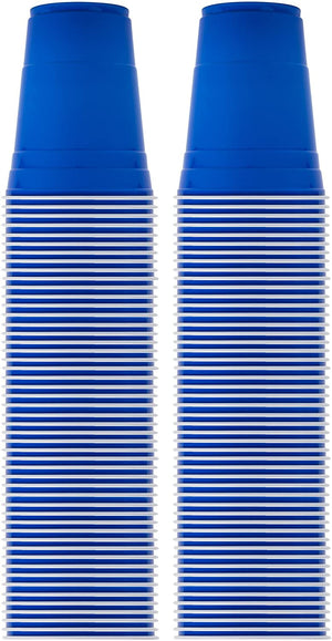 20 Blue Party Cups, 16oz Reusable Disposable Soda Cups for Birthday Party