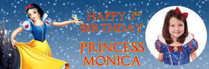 Snow White Birthday Banner
