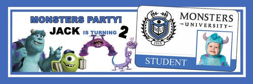 Monsters Party Banner