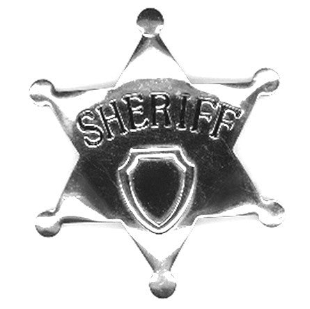 Deluxe Sheriff Badge