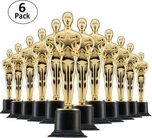 "Prextex 6 Pack Award Trophies for Ceremonies or Parties 6"" High"