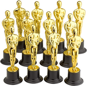 "6"" Gold Award Trophies - Pack of 5 Bulk Golden Statues"