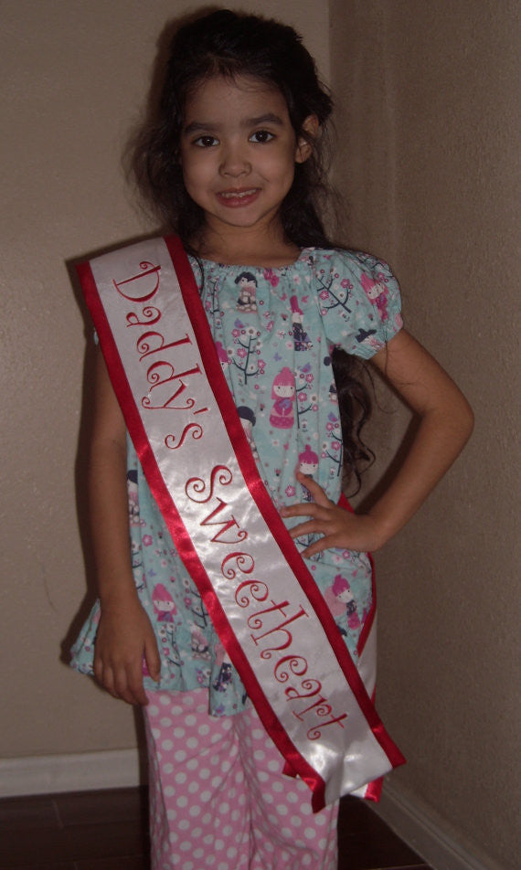 Daddy's Sweetheart Sash