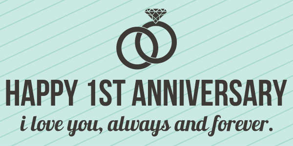 1st Wedding Anniversary Banner