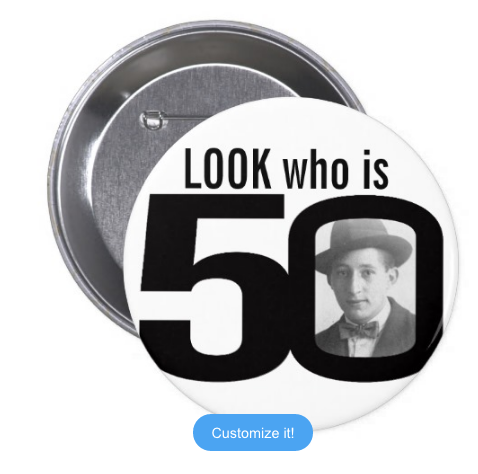 Look who is 50 photo Badge (10 pcs)