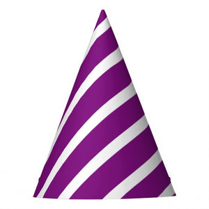 Purple Swirl Party Hat (10 pcs)