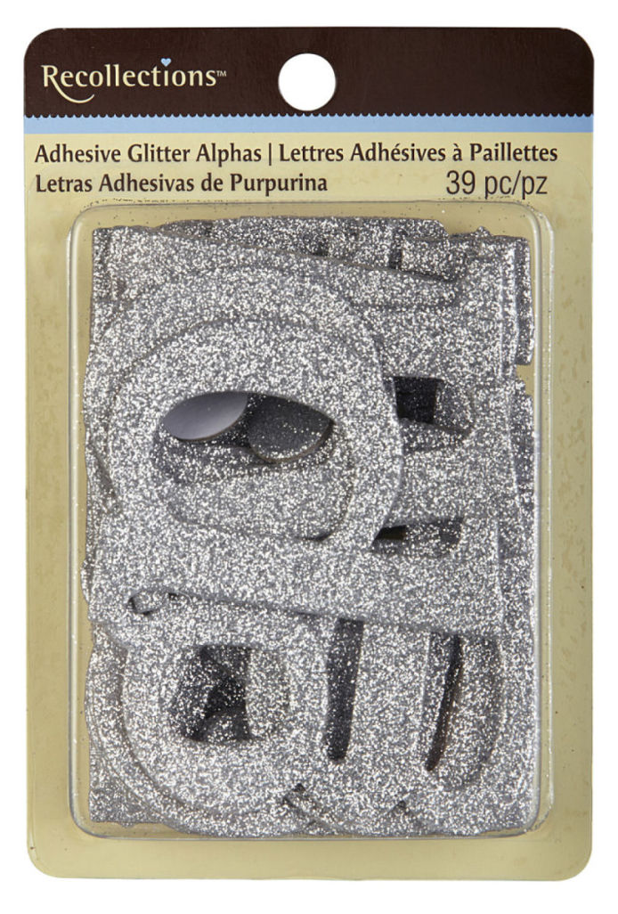 Recollections™ Adhesive Glitter Chipboard Alphabet, Large