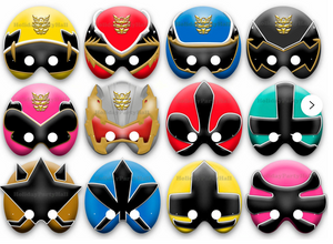 Power Ranger Card Masks