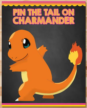 Pin the Tail on Charmander