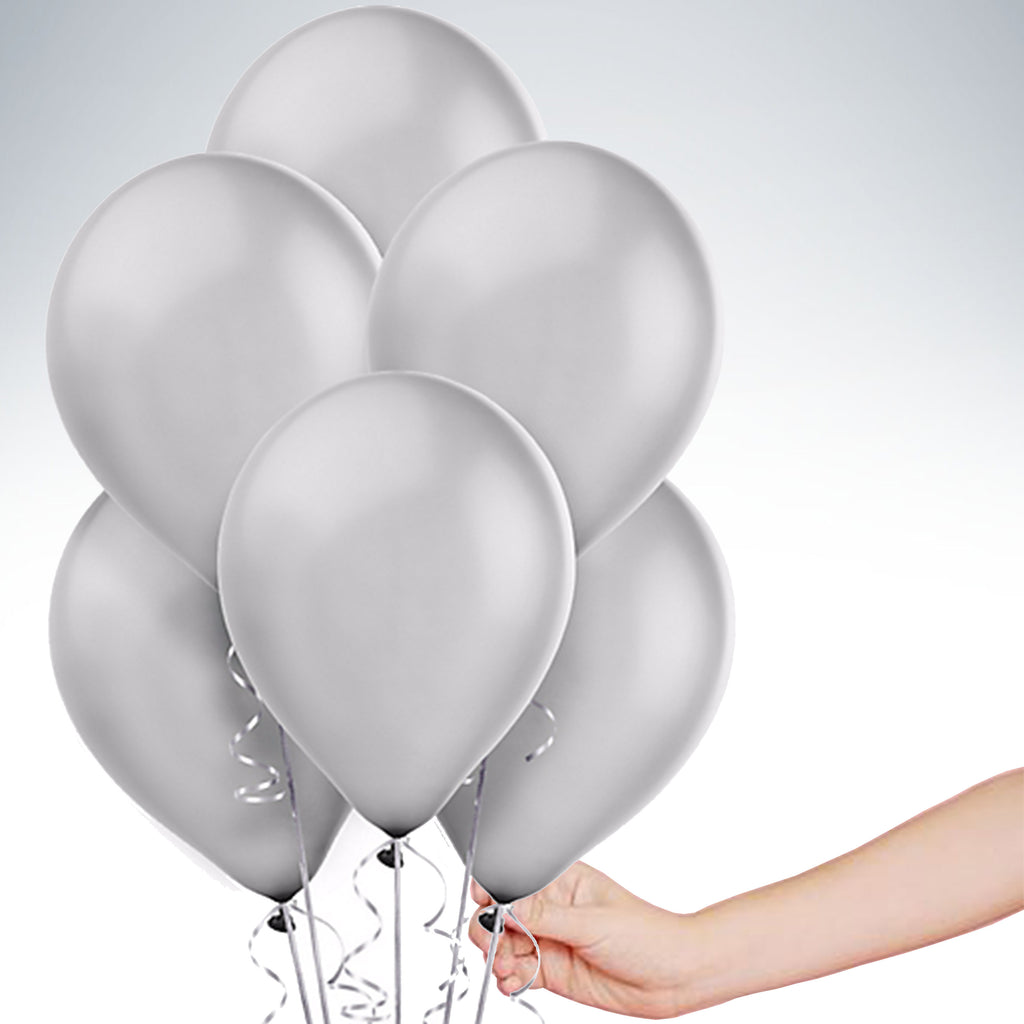 "11"" Latex Balloon - Metallic Silver"