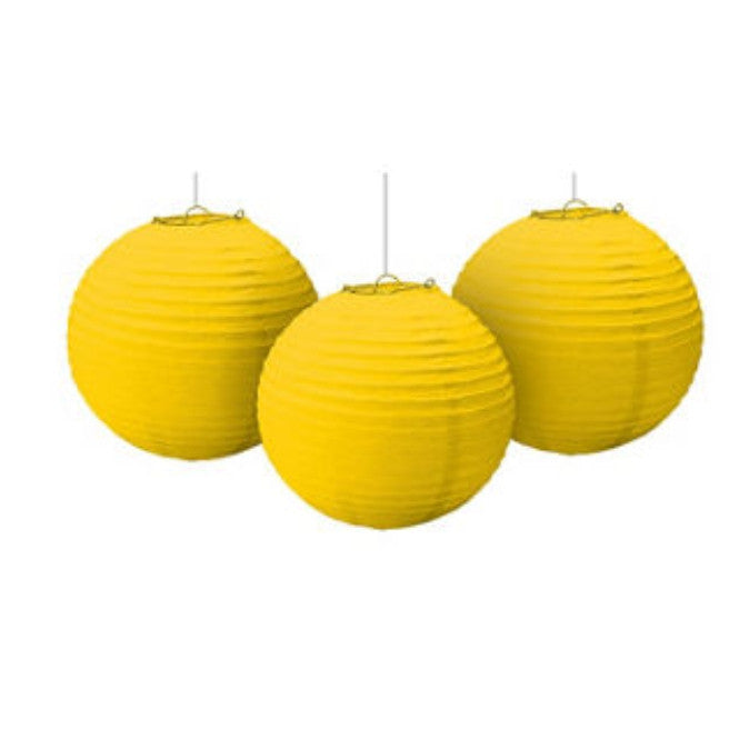 Sunshine Yellow Paper Lantern 3ct