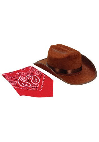ITEMS INCLUDED Cowgirl hat Bandana