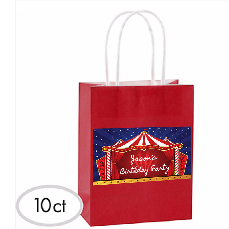 Customized Carnival Favor Bags 10ct