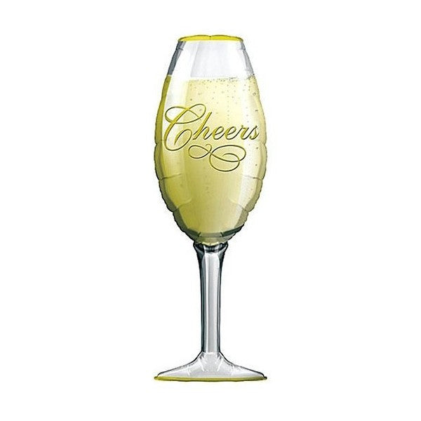 Champagne Glass Super Shape Mylar Balloon