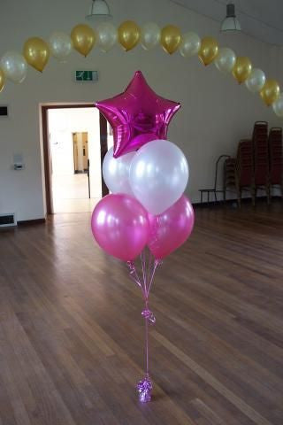 Pink Star Balloon Bouquet