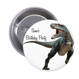 Dino Birthday Badge 10 pcs)