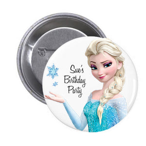 Customized Elsa Birthday Badge (10 pcs)