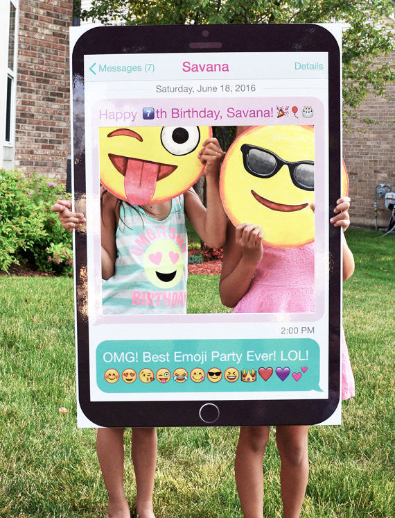 Customized Emoji Photo Booth Prop