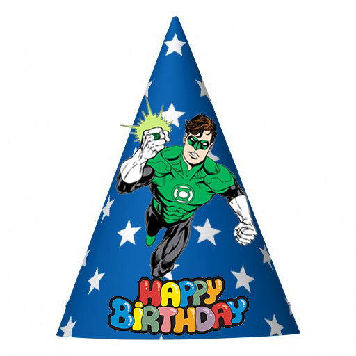 Green Lantern Birthday Party Hat (10 pcs)