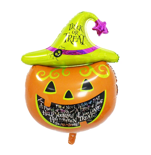 Trick or Treat Pumpkin Foil Balloon