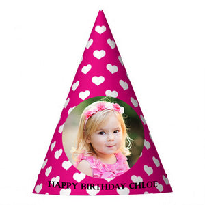 Hearty Pink Party Hat (10 pcs)