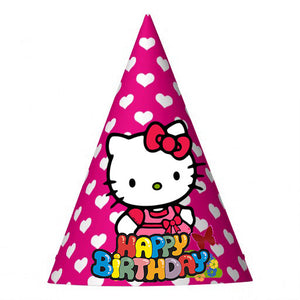 Hello Kitty Birthday Party Hat (10 pcs)