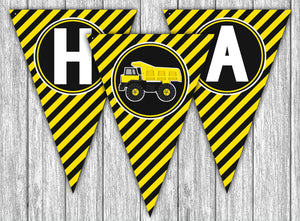 Construction Truck Birthday Bunting