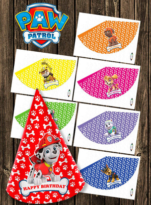 Paw Patrol Party Hats (10 Pcs)