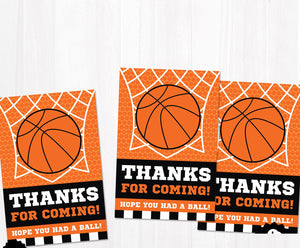 Basketball Favor Bags 10ct