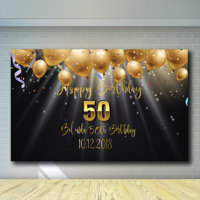 50th Birthday Backdrop